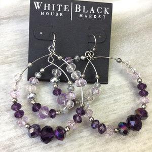 White House Black Market Purple Bead Earrings